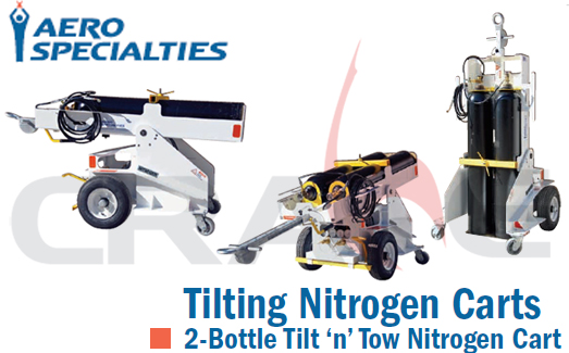 AEROSPECIALTIES/通航机坪氮气车/2-Bottle Tilt'n' Tow Nitrogen Cart