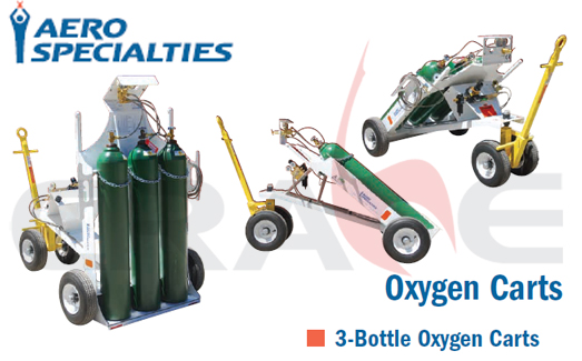 AEROSPECIALTIES/通航飞机3瓶装充氧车/3-Bottle Oxygen Carts